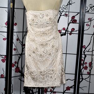Sue Wong Dresses - BEIGE BEADED COCKTAIL, DRESS 8